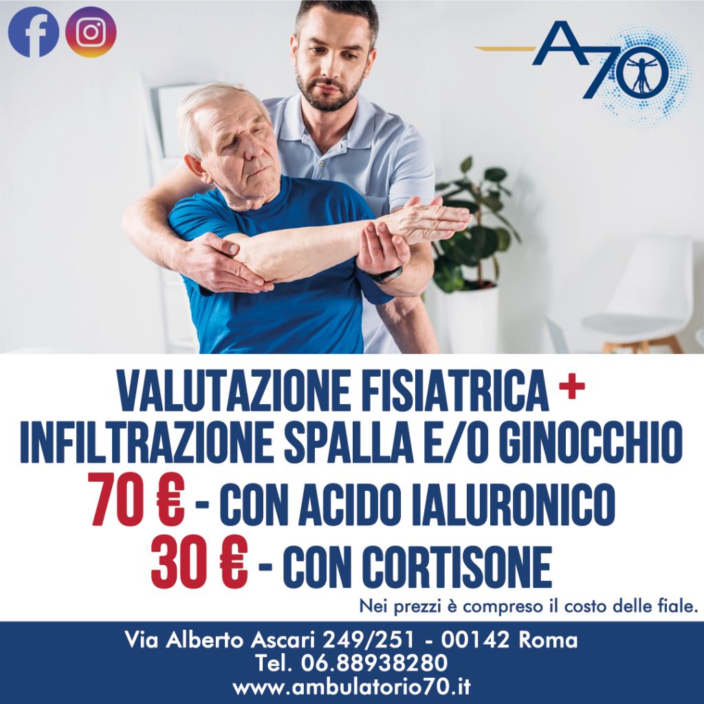 Ambulatorio 70 Promozione febbraio valutazione fisiatrica
