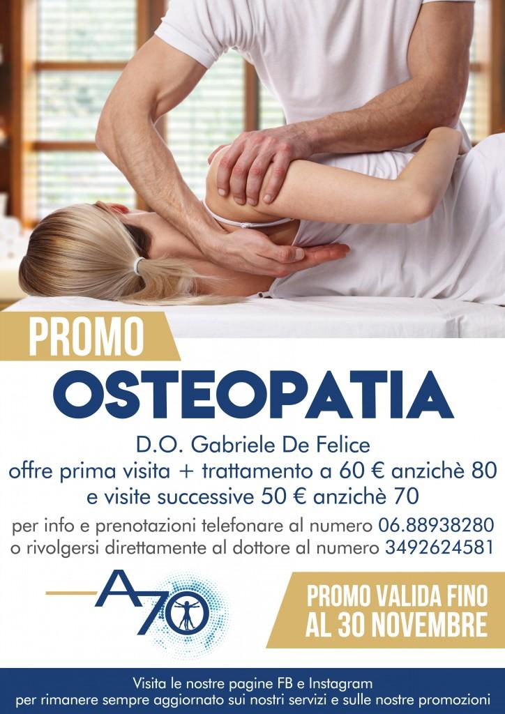 Promo Osteopatia Ambulatorio 70 Ottobre Novembre 2019